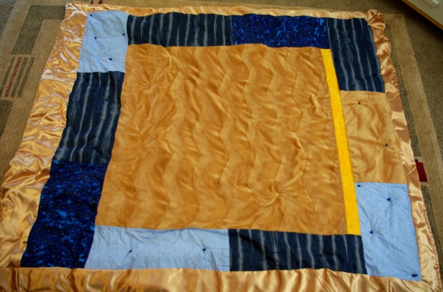 back of boys quilt