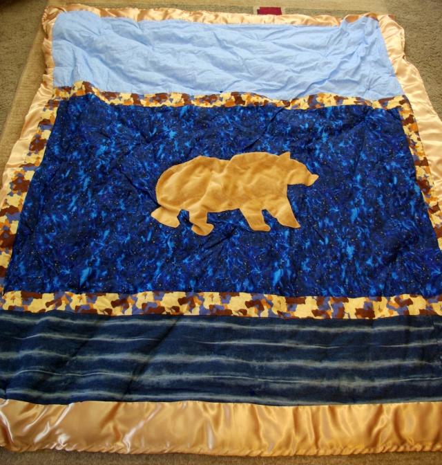 Bear themed quilt for a boy