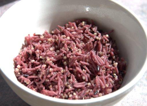 Purple Rice with Thai black rice, white basmati and quinoa
