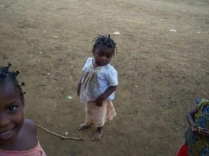 shy little girl cameroon