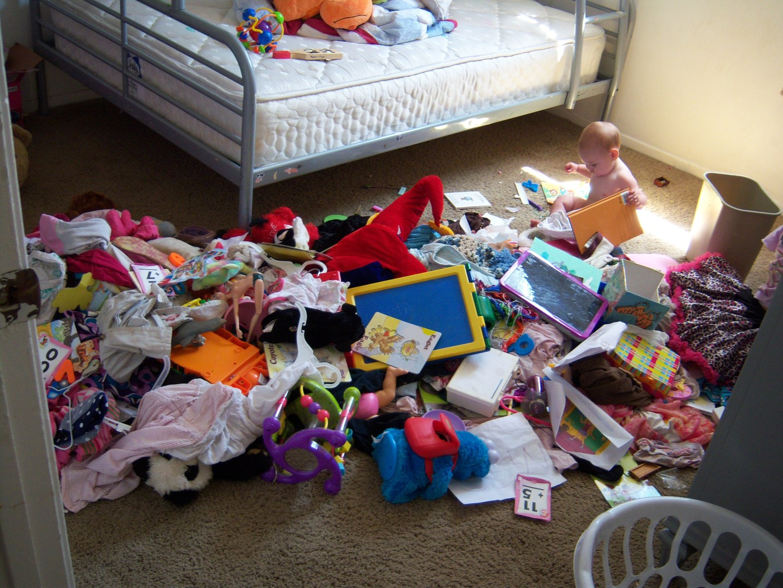 huge mess girls room