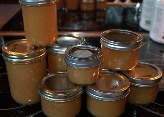Guava mango banana jam all canned