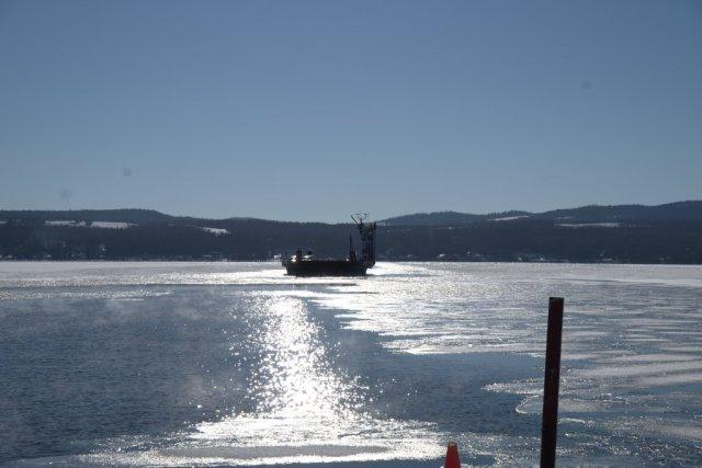 ferry across shining waters