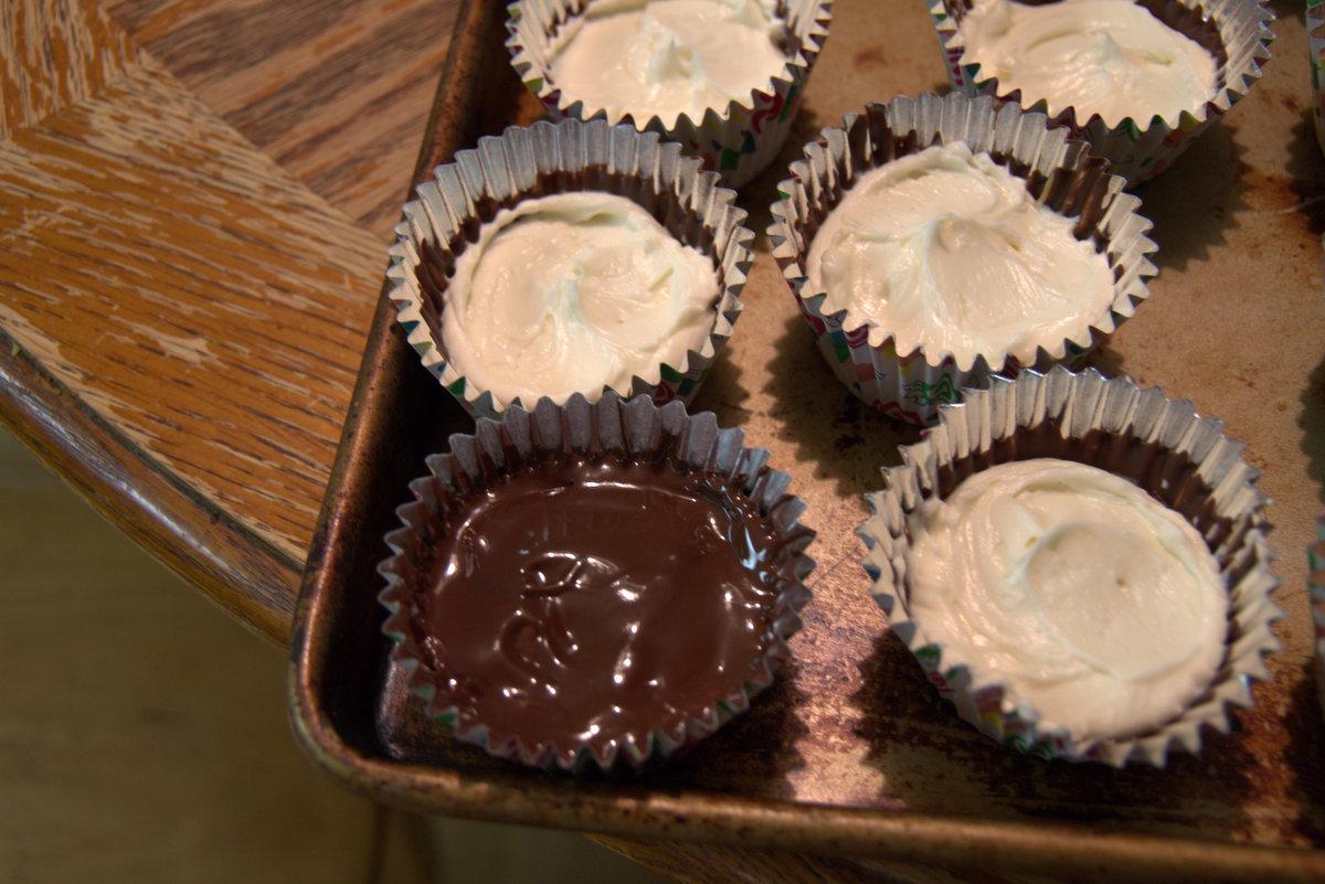 chocolate creme cupcake egg